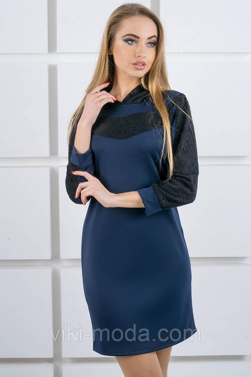 Молодежное платье Камита (синий)