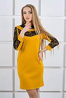 Молодежное платье Камита (горчичный), фото 1
