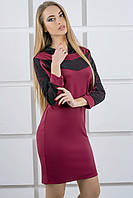Молодежное платье Камита (бордовый)