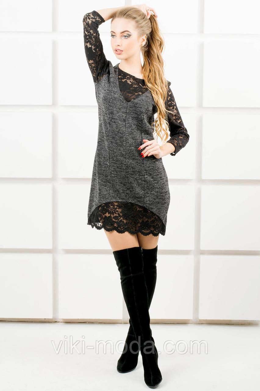 Молодежное платье Монита (черный)