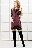 Молодежное платье Монита (бордовый)