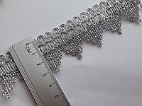 Тасьма декоративна люрекс  3 см, срібна