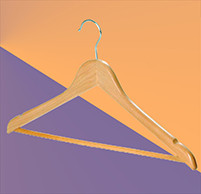 Плечики для одежды деревянные с перекладиной (стандарт)