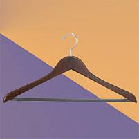 Плечики для одежды деревянные с перекладиной (премиум)