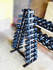 Гантельный ряд от 1 до 10 кг PROFI со стойкой, фото 3