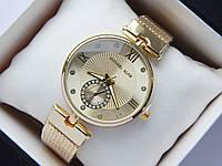 Женские наручные часы копия Michael Kors золото, дополнительный циферблат, фото 1