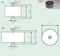 Конденсатор E53.Q56-124T20 120мкф/900VDC/350VAC