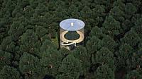 Проект стеклянного эко-дома, построенного вокруг дерева