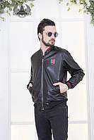 "Мужская короткая куртка экокожа "" GUCCI """