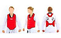 Защита корпуса (жилет) для каратэ детская ELAST BO-3951-R(L) (PU, р-р L-12-14лет, красный)