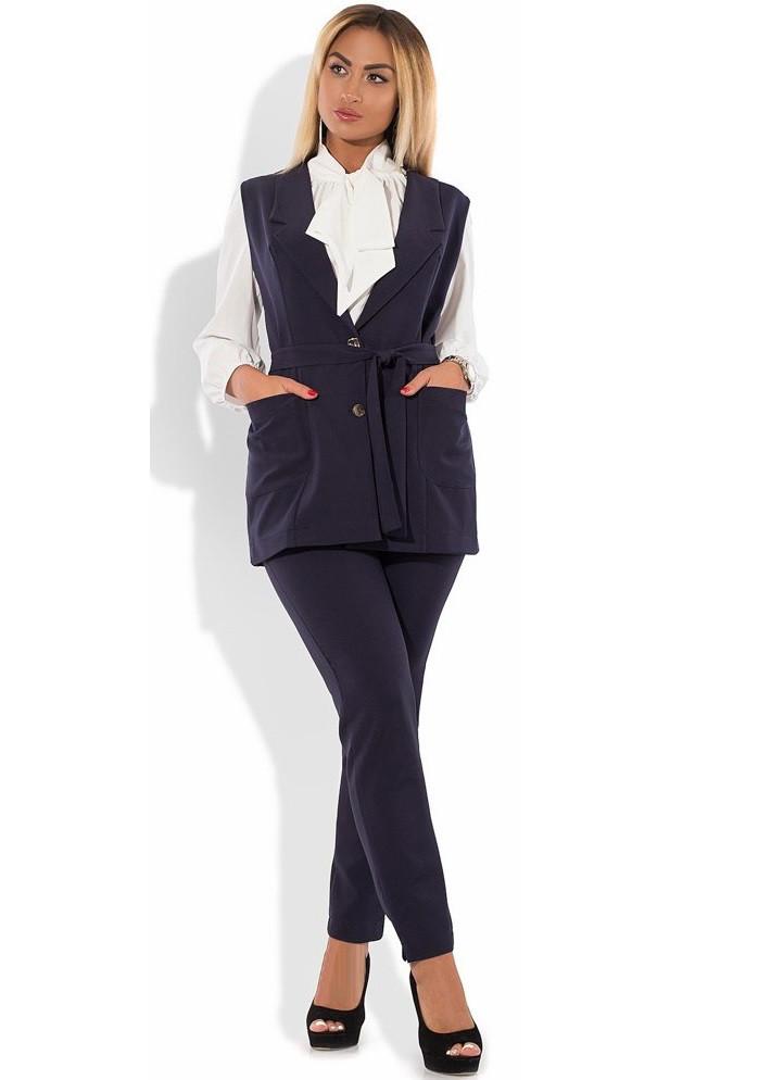 Костюм двойка жилет и брюки размеры от XL 4081