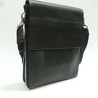 Сумка - планшет мужская 9981, Louis Vuitton.Черный.( 1  молния расширения).
