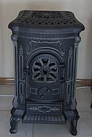 Чугунная отопительно-варочная печь буржуйка Ingrid Deco, Польша