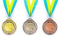 Заготовка медали спортивной с лентой HIT d-6см C-3218-S место 2-серебро (металл, d-6см, 30g)
