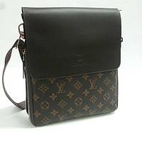 Сумка - планшет мужская 9981, Louis Vuitton.Коричневый.( 1 молния расширения).