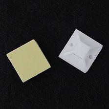Площадка самоклеющаяся для кабельной стяжки TM 25 белая, фото 2