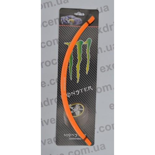Светоотражающие полосы на колесные диски Monster под диск R17 (Оранжевые)