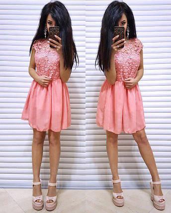 Легкое летнее ажурное платье, фото 2