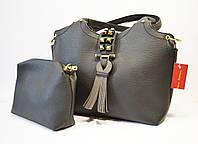 Сумка в сумке кожаная черная Velina Fabbiano 9018