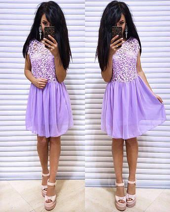Яркое летнее платье с кружевом, фото 2