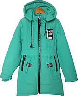 """Куртка подростковая демисезонная """"Mikibana"""" #L-8843 для девочек. 9-10-11-12-13 лет. Мята. Оптом., фото 1"""