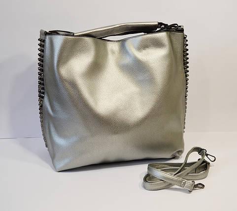f436f495541f Сумка женская серебристая Velina Fabbiano 9005: продажа, цена в ...