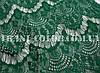 Ткань гипюр реснички темно-зеленый бутылка