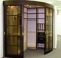 Радиусный шкаф-купе  - гардеробная