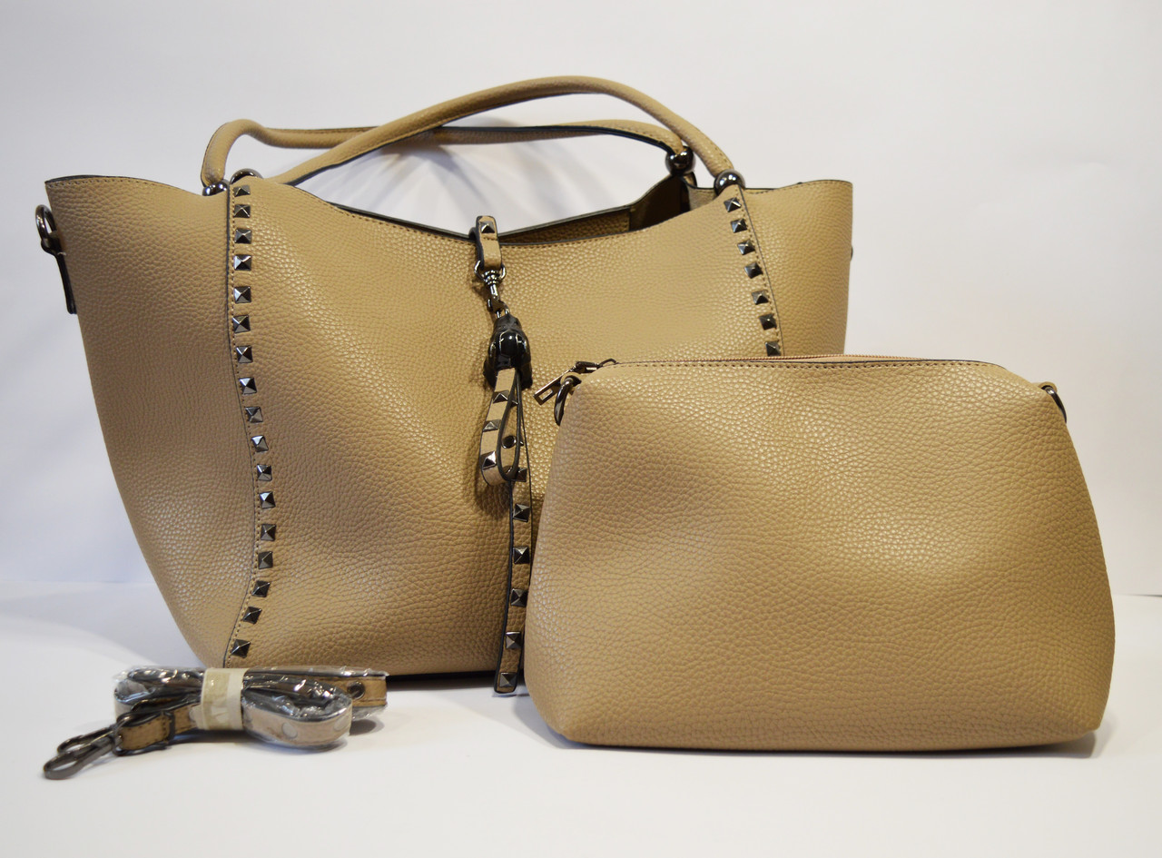 Сумка в сумке хаки Velina Fabbiano 6006