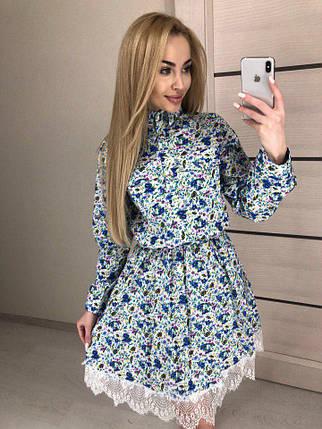 Женское летнее платье из хлопка, фото 2