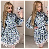 Женское летнее платье из хлопка