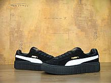 Женские кроссовки Rihanna x Puma Suede Creeper Black/White 362178 03, Пума Риана Сьюд, фото 2