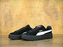 Женские кроссовки Rihanna x Puma Suede Creeper Black/White 362178 03, Пума Риана Сьюд, фото 3