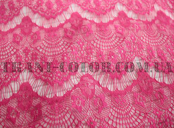 Ткань гипюр реснички малиновый, фото 2