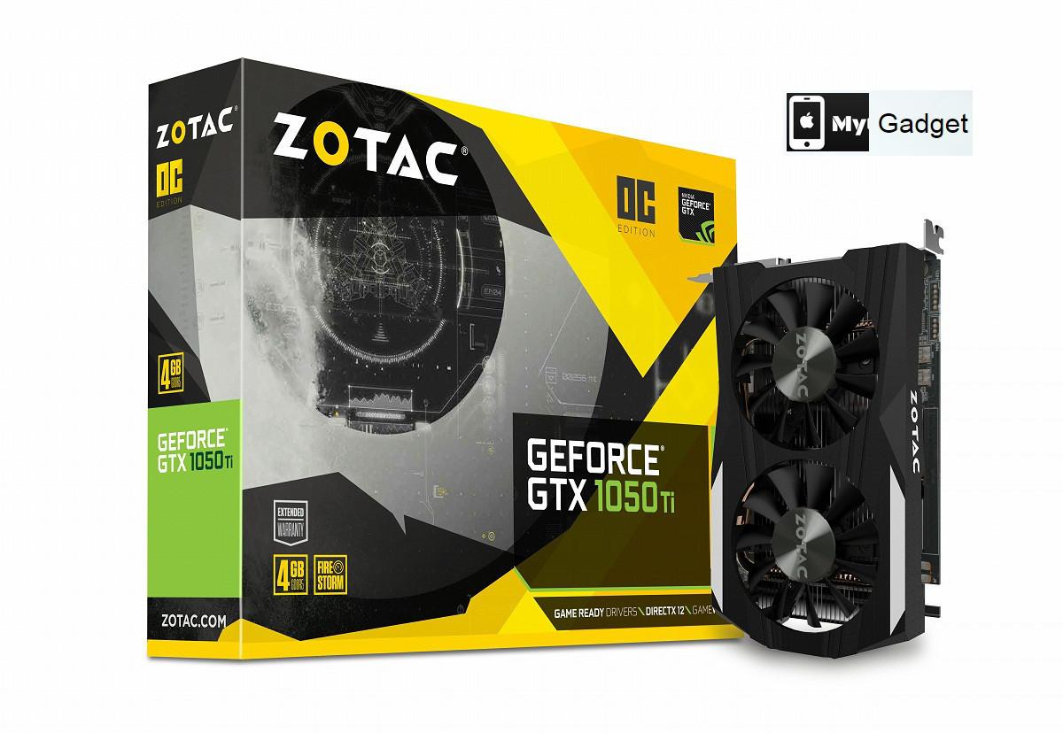 Видеокарта Zotac GeForce GTX 1050 Ti OC Edition 4GB GDDR5 (128bit) (1392/7000)
