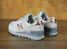 Женские кроссовки New Balance 574 Rose Gold/Grey, Нью беланс 574, фото 2