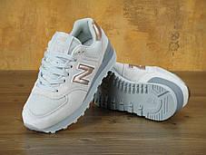 Женские кроссовки New Balance 574 Rose Gold/Grey, Нью беланс 574, фото 3