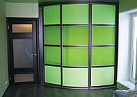 Зеленый Радиусный шкаф-купе