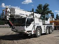 Аренда, услуга автокрана 55 тонн Liebherr LTM1055 стрела 40+18 гусек