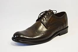 Туфли классические из натуральной кожи коричневые Calif