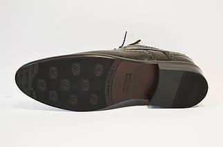 Туфли классические из натуральной кожи коричневые Calif, фото 2
