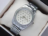 Женские кварцевые часы Michael Kors b133-1, серебро, сетка из страз