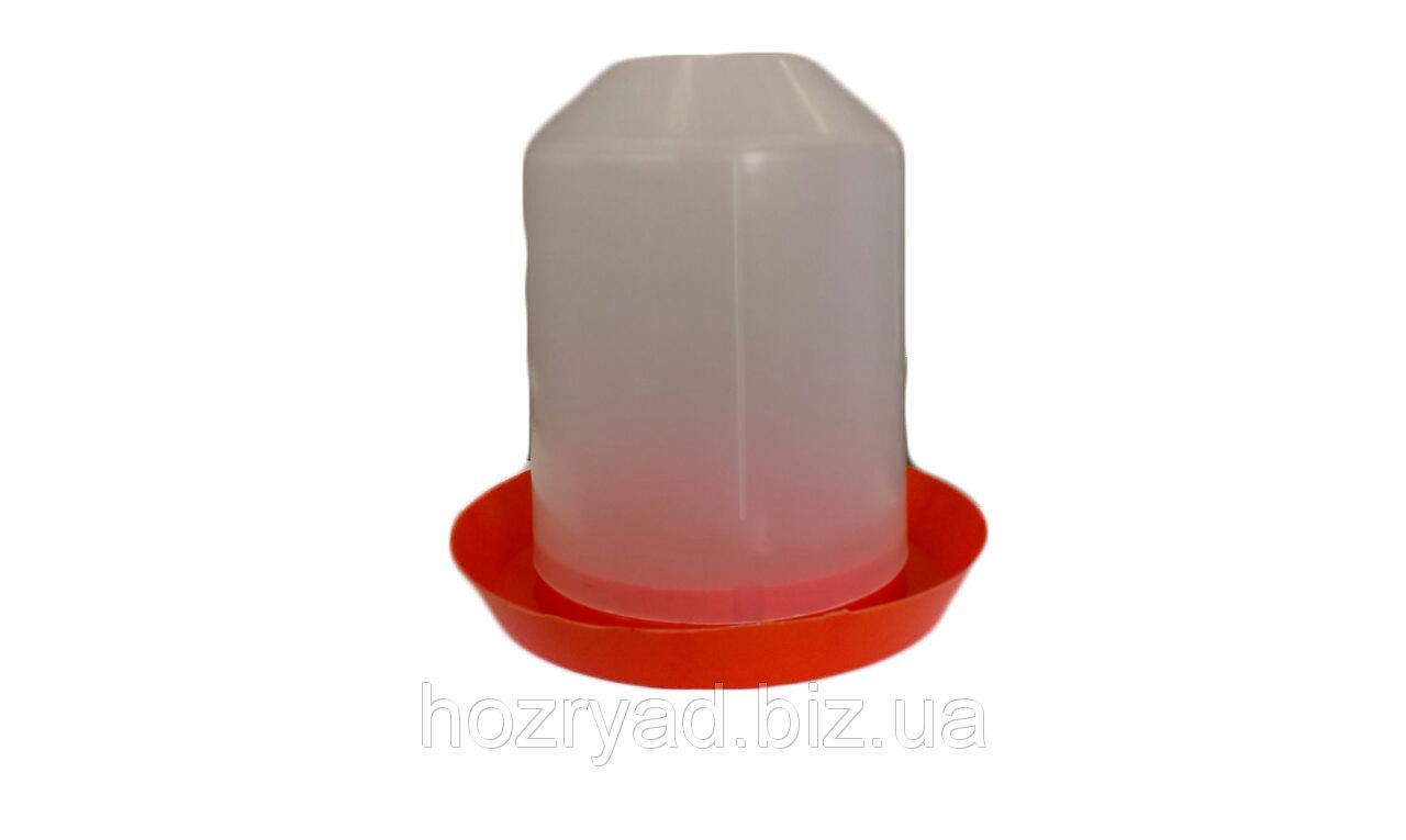 Поилка-бункер пластмассовая на 6 л