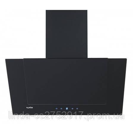 Кухонная вытяжка DIAMOND 60 BK (750) TC VentoLux, наклонная кухонная вытяжка, фото 2