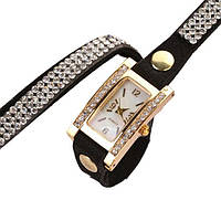 Женские наручные часы с камушками Geneva кварцевые часы-браслет Женские часы браслет со стразами
