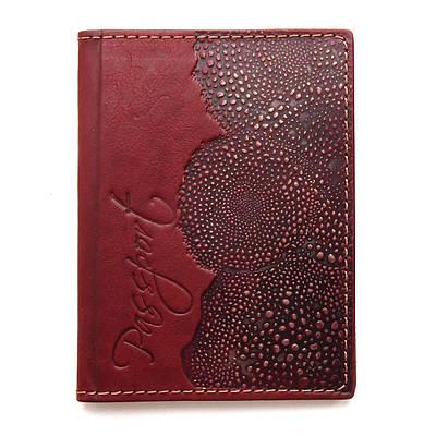 Обложка на паспорт кожаная Guk (3708)