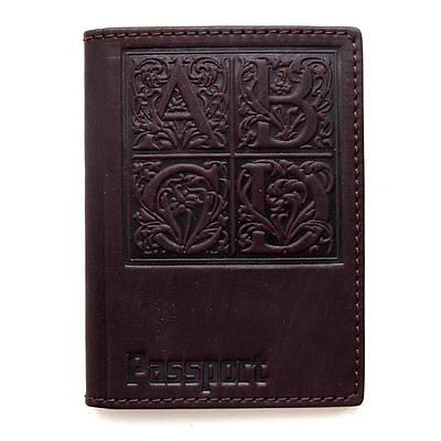 Обложка на паспорт кожаная Guk (4207)