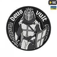 M-Tac нашивка Deus Vult 3D ПВХ черно-белая