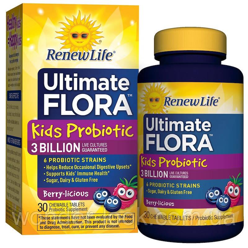 Renew life ultimate flora пробиотики для детей