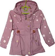 """Куртка детская демисезонная """"Горох"""" #В-1654 для девочек. 9 мес.-1-2-3-4 год. Розовая. Оптом., фото 1"""